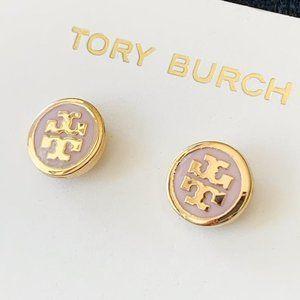 Tory Burch Mauve Signature Earrings